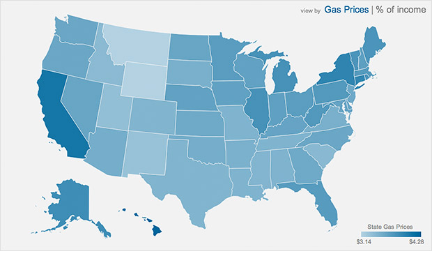 gas prices interactive map