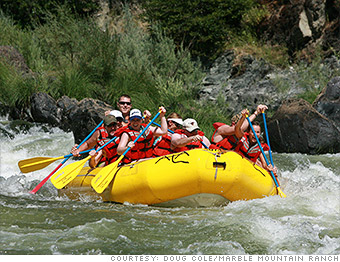 travel family trips california rafting