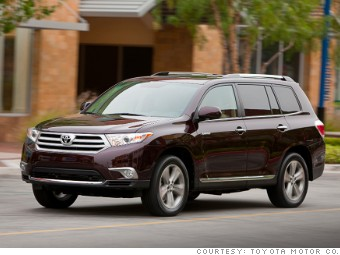 Mid Sized Suv Toyota Highlander Consumer Reports Top Car Picks