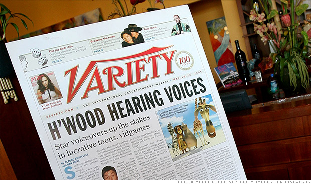 variety print edition