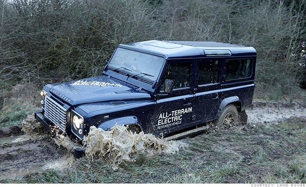 electric land rover defender cool cars from the geneva motor show cnnmoney. Black Bedroom Furniture Sets. Home Design Ideas
