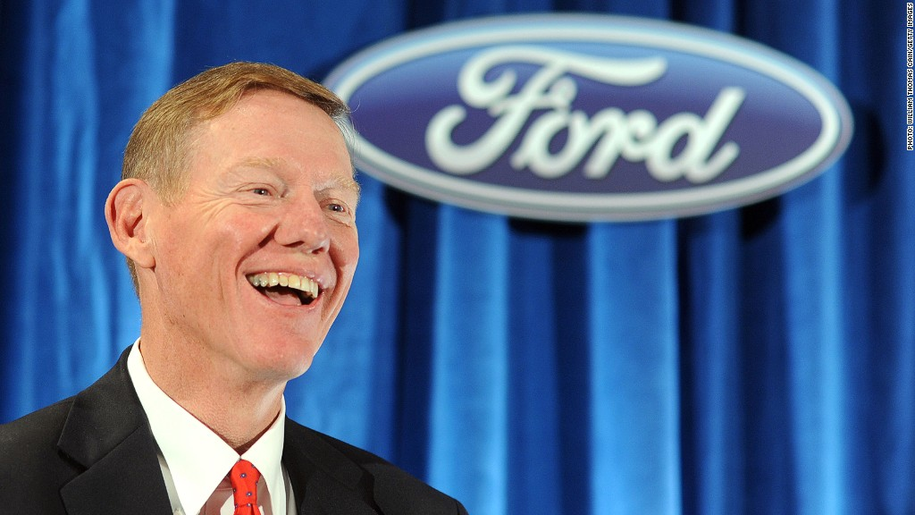 Ford ceo mulally 39 s 317 million haul mar 7 2013 for Ford motor company alan mulally