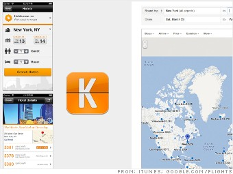 kayak google flight search travel apps