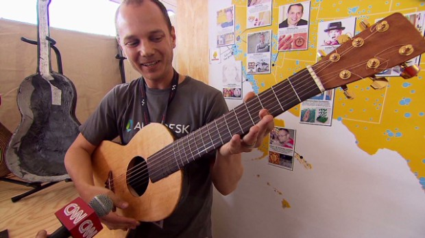 3-D printing guitars and records