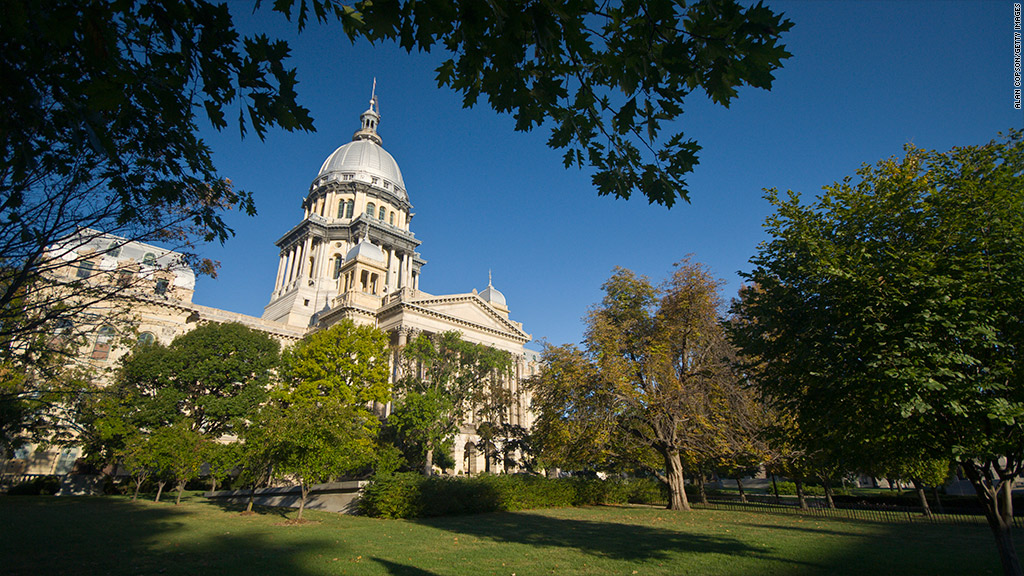 illinois state capitol building government securities fraud
