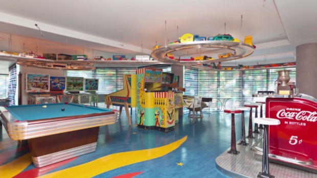Murals A Huge Indoor Pool A Starlit Bedroom Ceiling And A Game Room