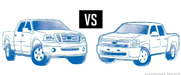 rivalries ford gm