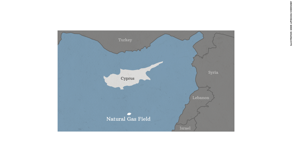 cyprus natural gas map