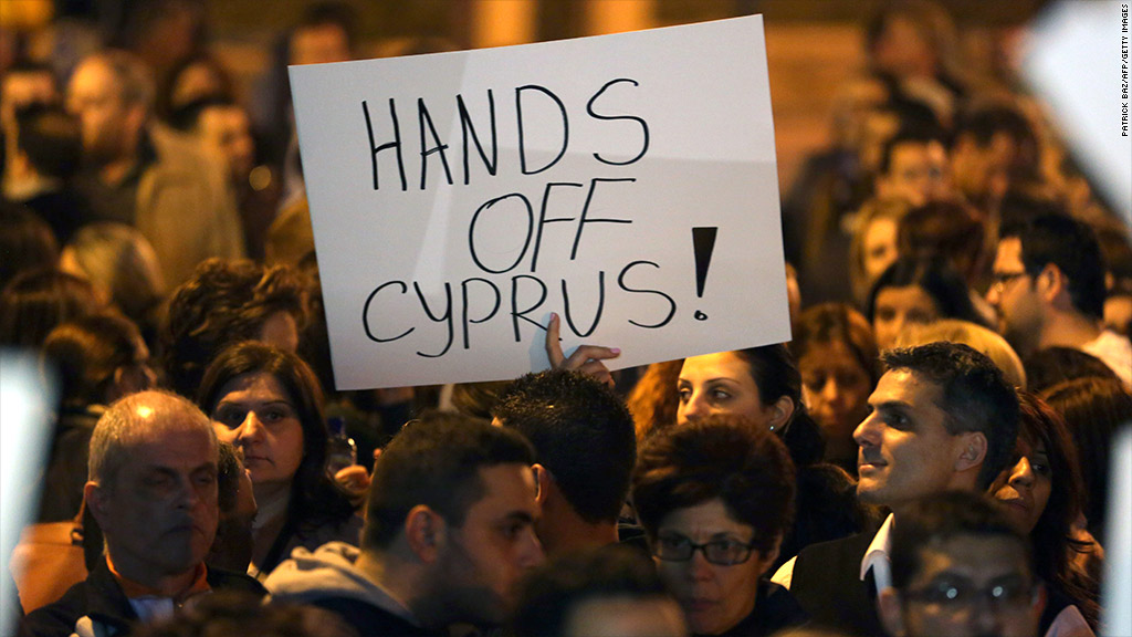 cyprus economy protests banks