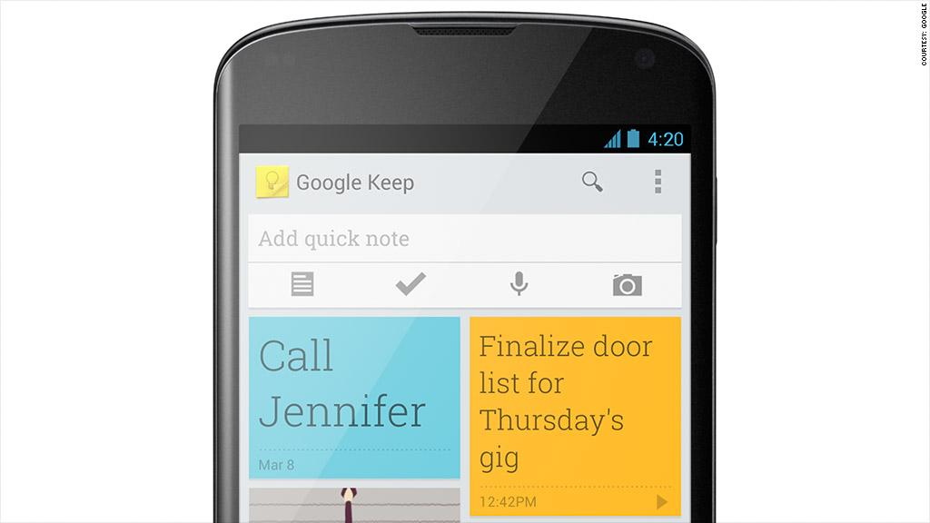 google keep phone