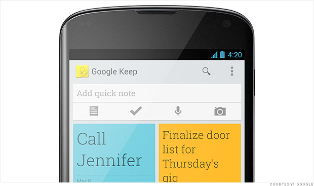 google keep phone