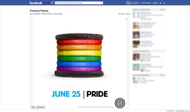 facebook oreo pride