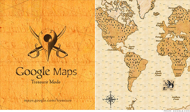 google treasure maps april fools