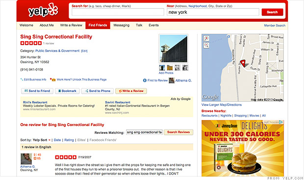 yelp weird reviews