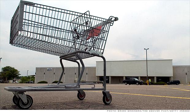 retail jobs empty parking lot