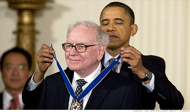 obama buffett medal