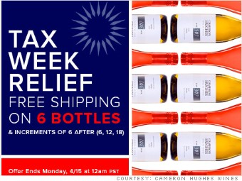 tax day freebies cameron hughes wines