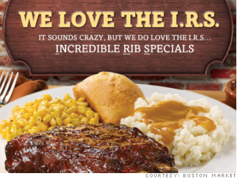 tax day freebies boston market