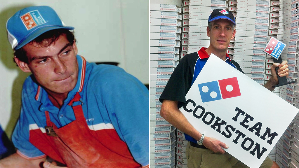 dominos pizza deliveryman owner rob cookston