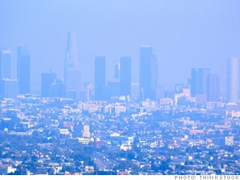 most polluted cities los angeles