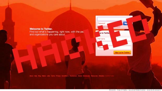 social media twitter hacked