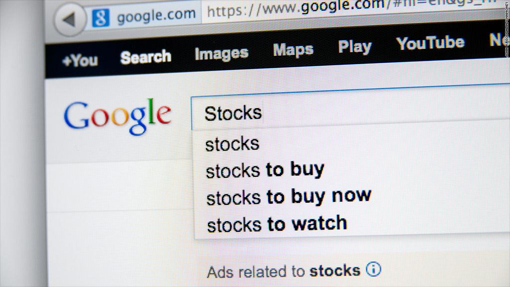 google stocks search