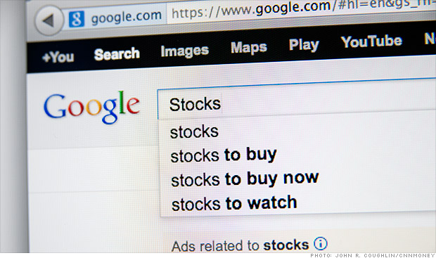 google stocks search