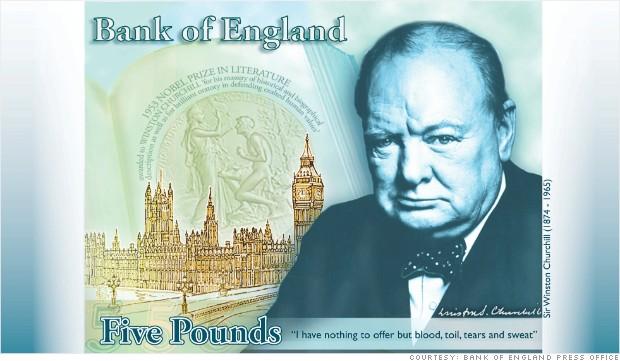 Los británicos tendrán en sus manos y billeteras a Winston Churchill