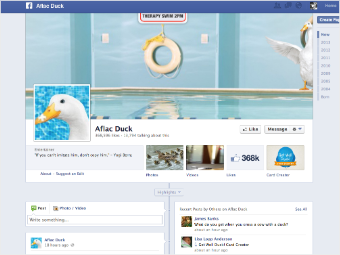 aflac duck facebook
