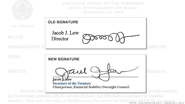 Jack Lew S Signature Gets A Makeover May 7 2013