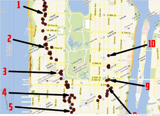 cyber bank heist manhattan map