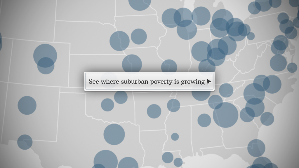 Increase in suburban poor population