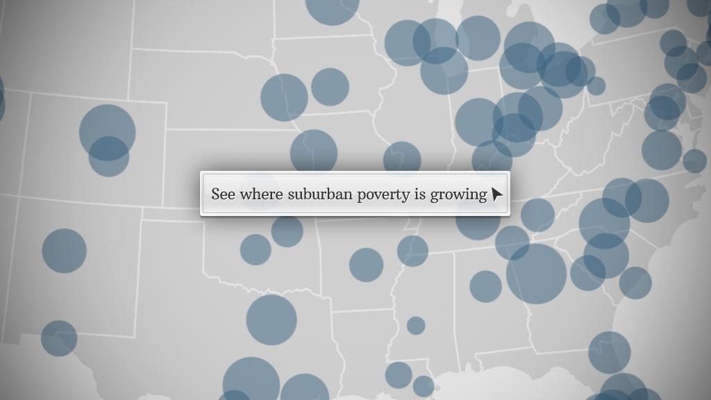 Increase in suburban poor population