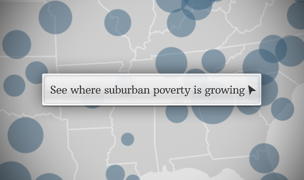 Suburban poverty soars