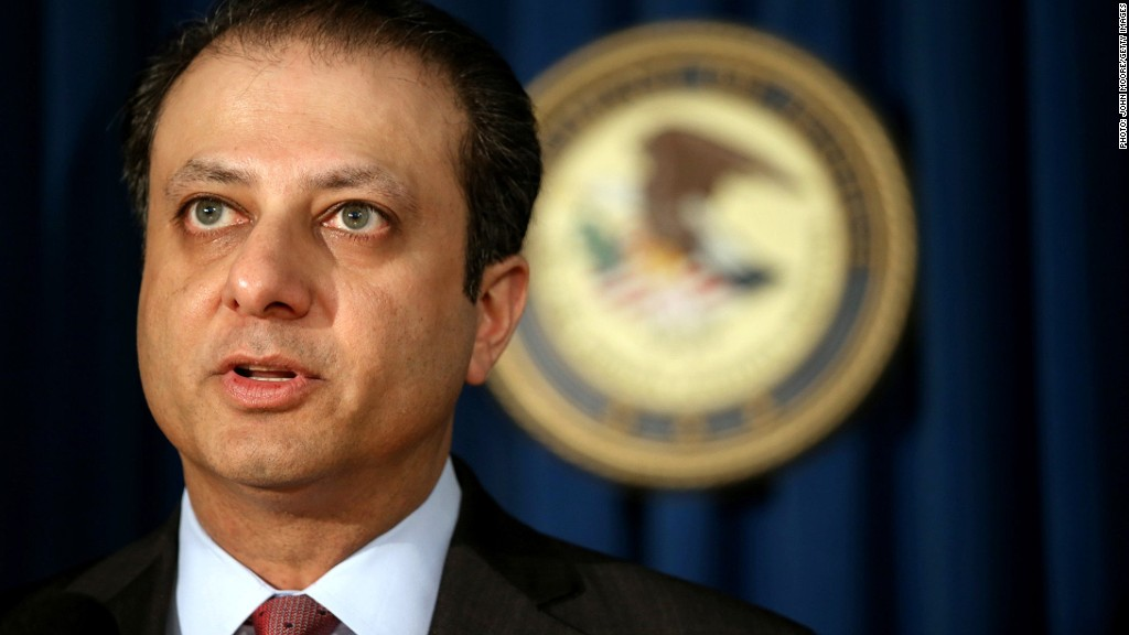preet bharara money laundering charges
