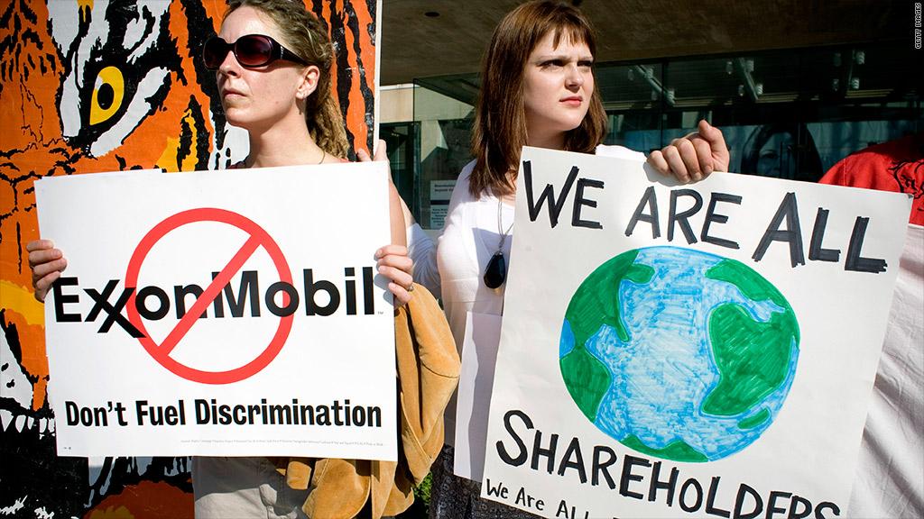 exxonmobil lgbt protest