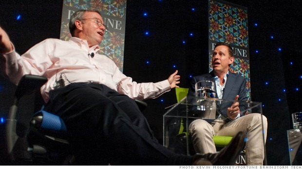 eric schmidt peter thiel brainstorm tech 2012