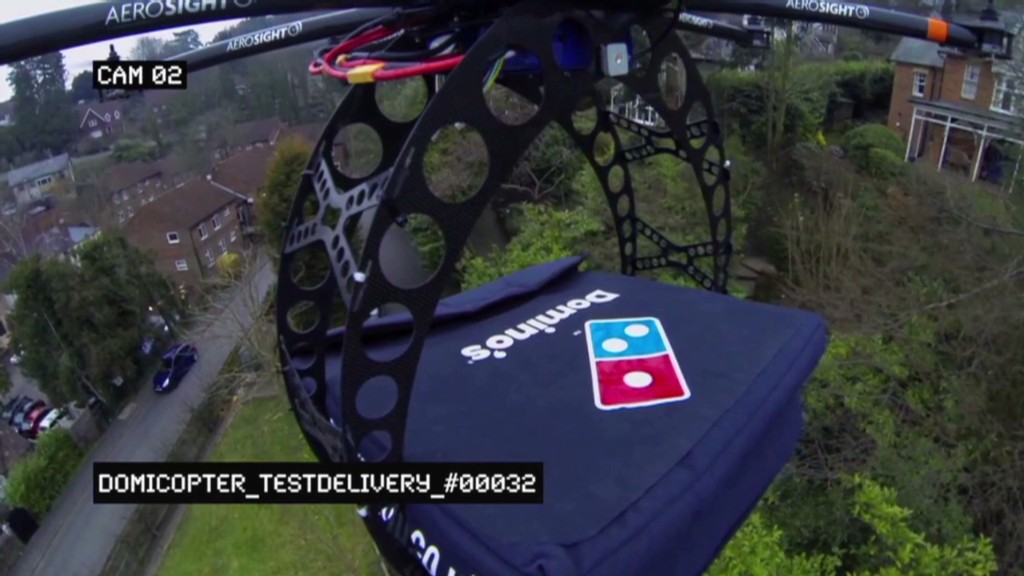 Pizza delivery by drone: Just a fun concept