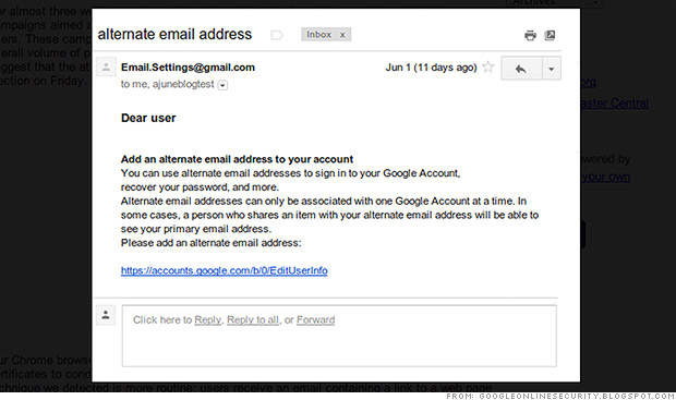 google iran phishing