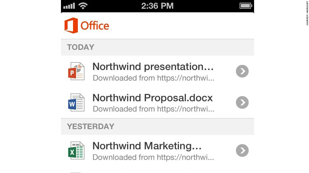 microsoft office 365 iphone