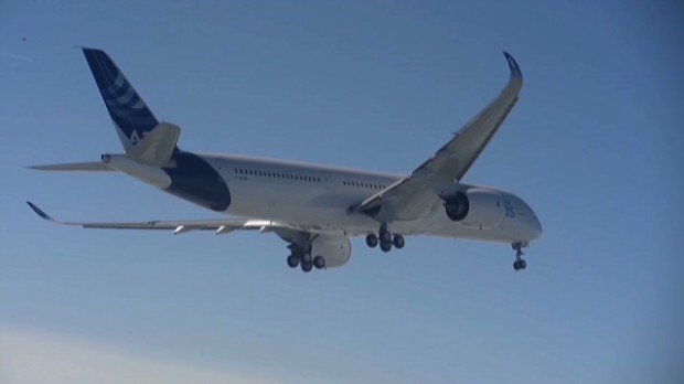Airbus A350 takes off for the first time