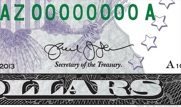 It's official: Jack Lew's new signature