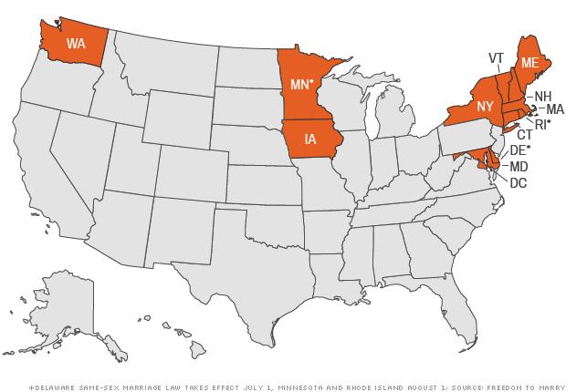 same sex matrimony map