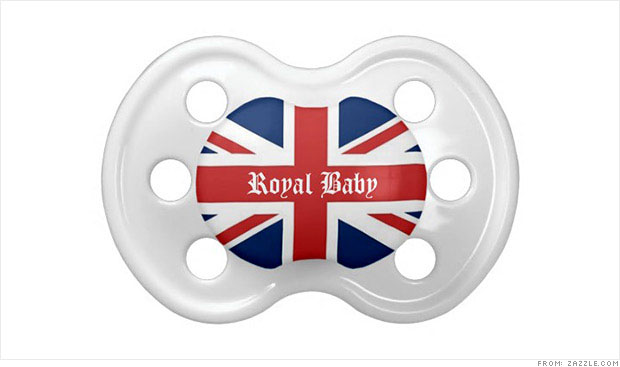 royal baby pacifier zazzle
