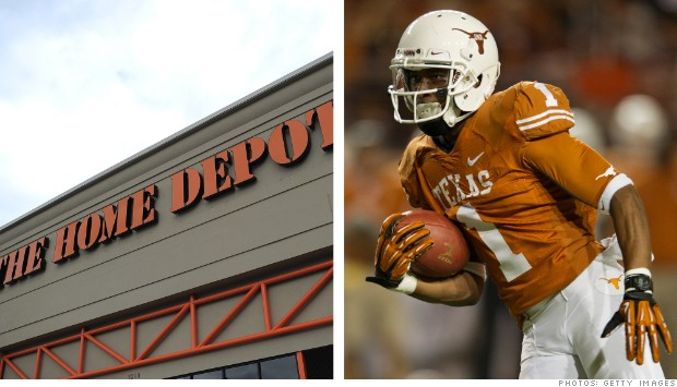 company sports colors home depot university of texas