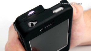 iPhone case doubles as stun gun