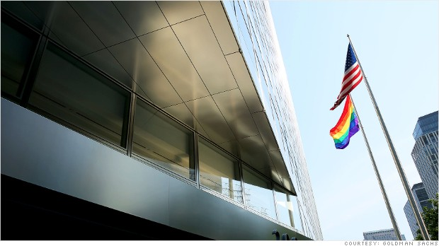 goldman sachs gay marriage flag