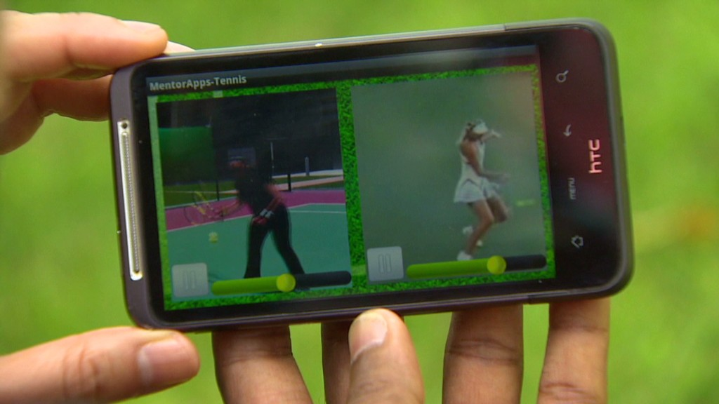 Tennis app let's you train with the pros