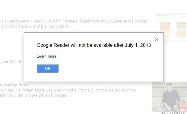 tech shutdown google reader