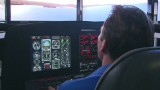 Inside a 777 flight simulator